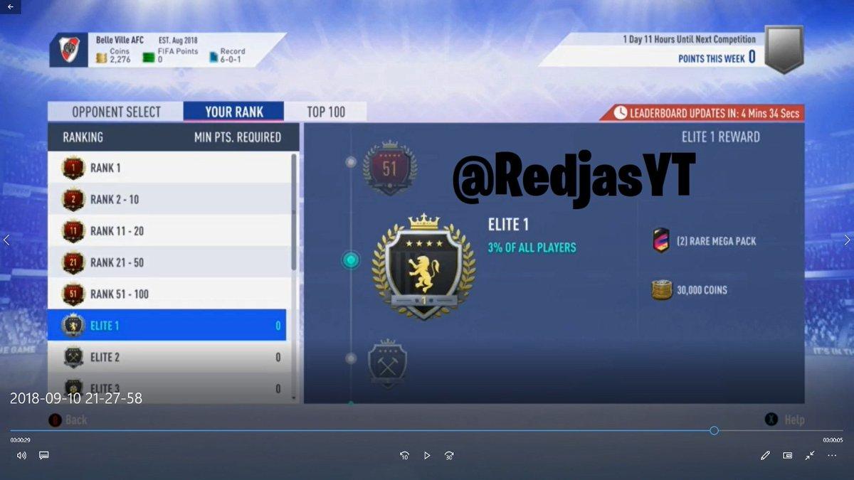 "Fifa 19 Squad Battles Rewards tom on twitter: ""new fifa 19 squad battle rewards for elite"
