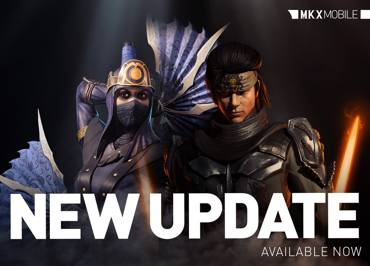 Check out the new #MKXMobile update! Whats new? - Two new Challenge characters: Ronin Takeda and Ronin Kitana! Challenges starting soon. - New equipment in the Faction Wars Store: Shadow Sash! - Optimizations and bug fixes! go.wbgames.com/PlayMKXMobile