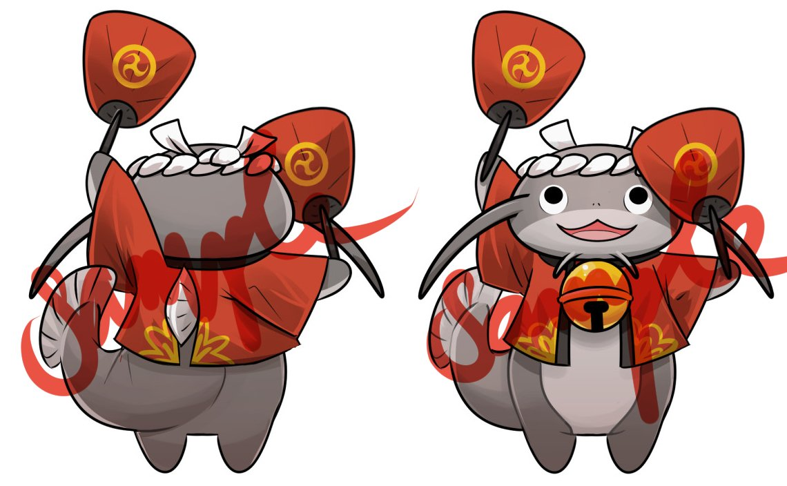wasshoi i made little namazu charms to go with the fat cats ffxiv