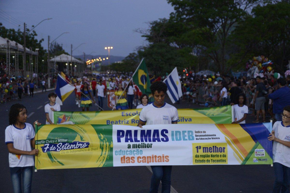 #7Setembro - O tema de abertura do Desfile Cívico e Militar da Independência do Brasil, foi comemorando a Educação de Palmas como a melhor dentre as Capitais do Brasil.