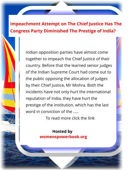 #Bharat #Indian2 #struggle #struggles One author encyclopedia site broods: Indian Supreme Court #judges are making a #mess of their country's #prestige in trying to #impeach their #ChiefJustice