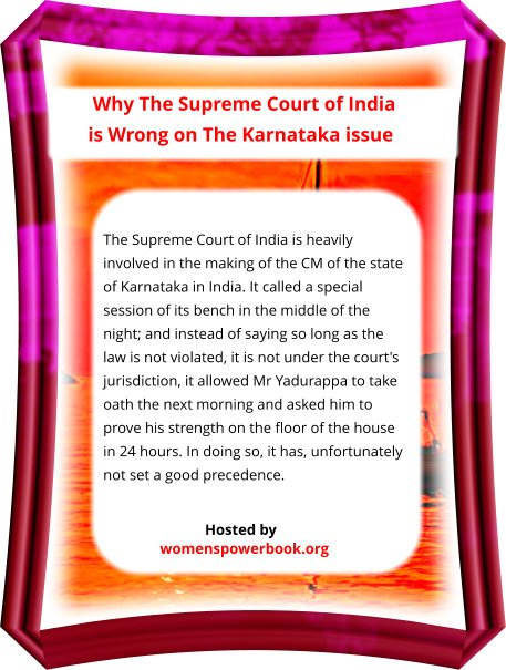 #legislation #ExecutiveOrder #Executive #karnatakarains World's knowledge in one hand site asks: If #SupremeCourt were to #interfere in the running of the #government what will be the meaning of #democracy?