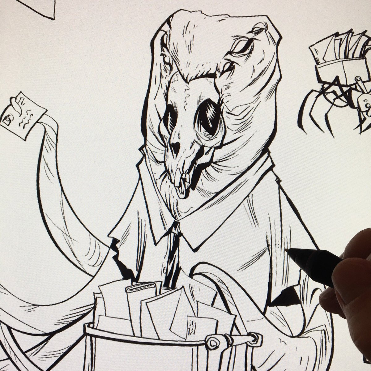 Adam Archer On Twitter Drawing A Monster Who Works At The Post