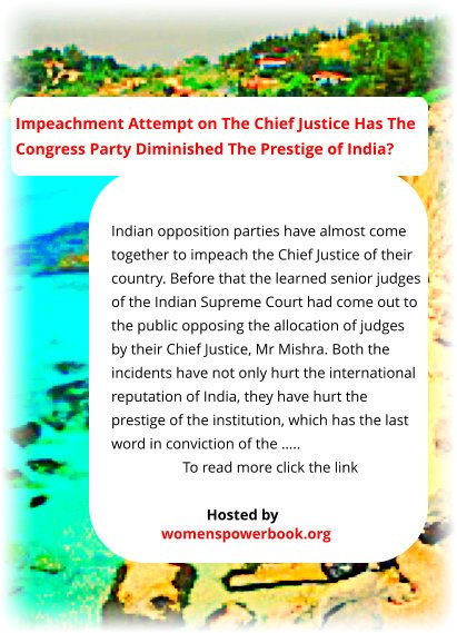 #ThoughtForTheDay #CountryDuty World's knowledge in one hand site explains: #Impeachment is bad. When done by the #SupremeCourt judges it is #bad for the #country itself. Were Indian #SupremeCourt right to impeach their CJ? http://bit.ly/2wuRxOT pic.twitter.com/hgcfRfzOjd