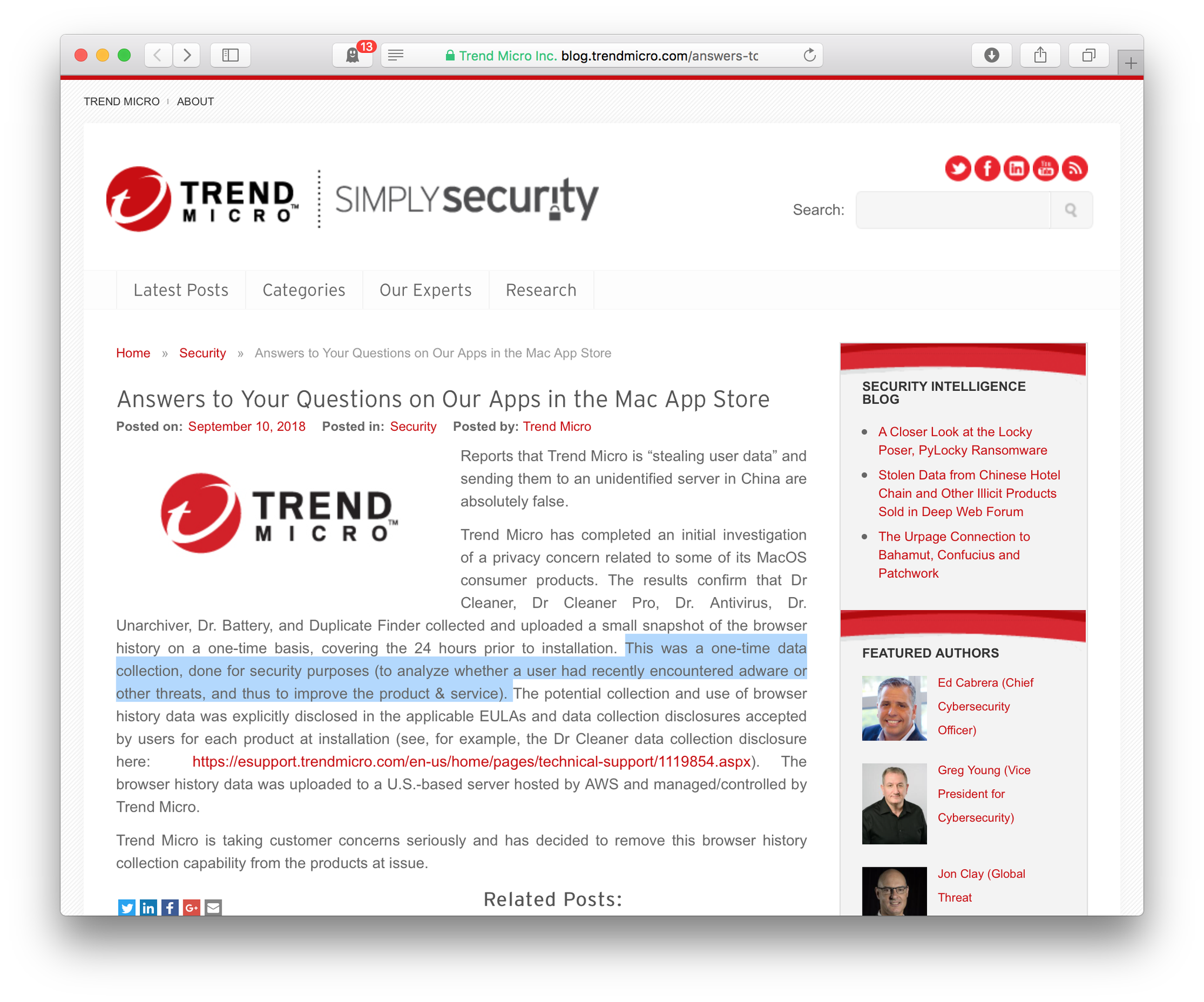 画像,「ユーザーが最近アドウェアその他の脅威に遭遇したかどうかを分析して、製品とサービスを改善する」セキュリティ目的だってー!m9(^Д^)プギャーwwwwwww…