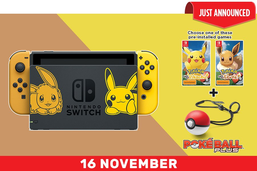 nintendo switch pokemon lets go console pikachu edition