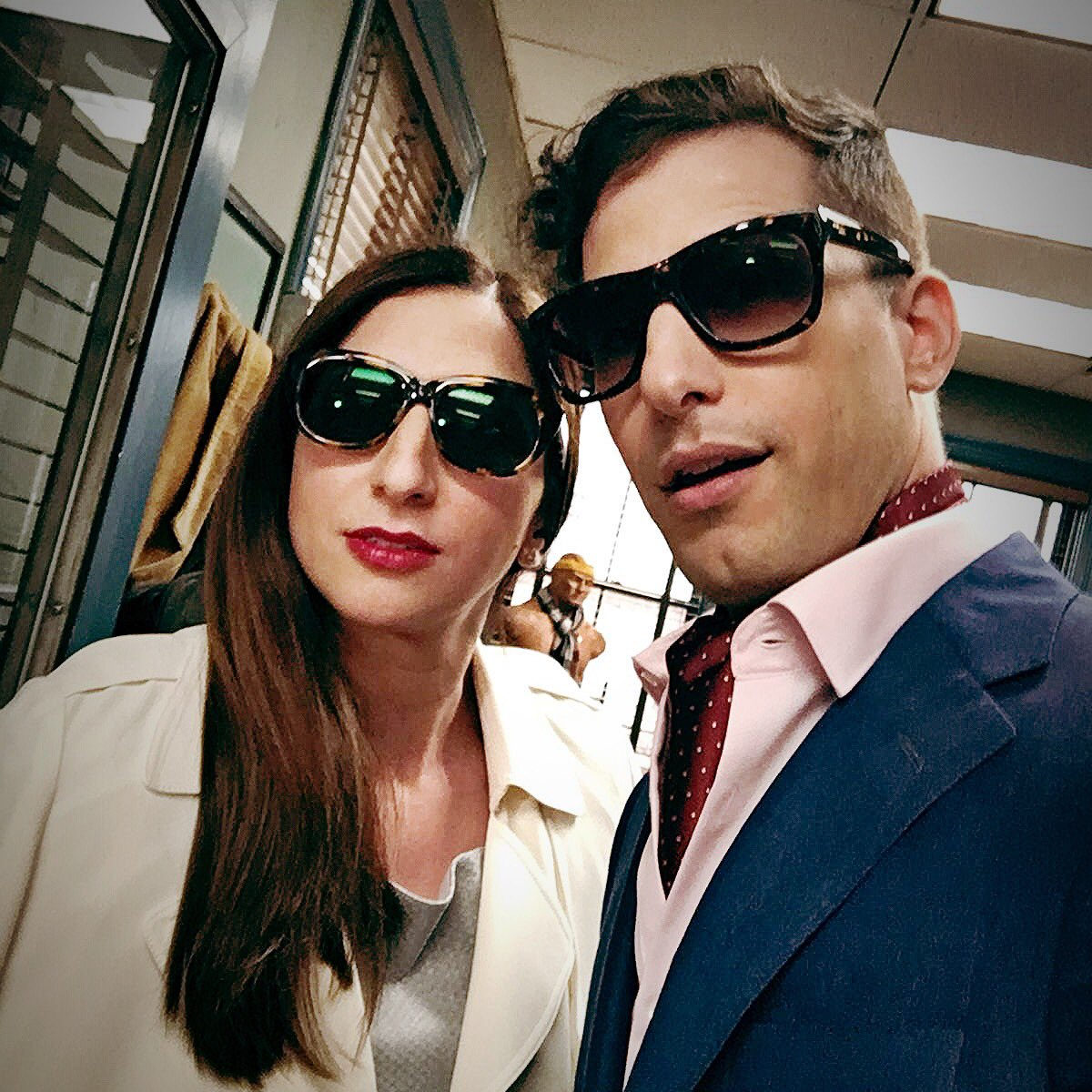 Andy Samberg and his childhood friend, Chelsea Peretti