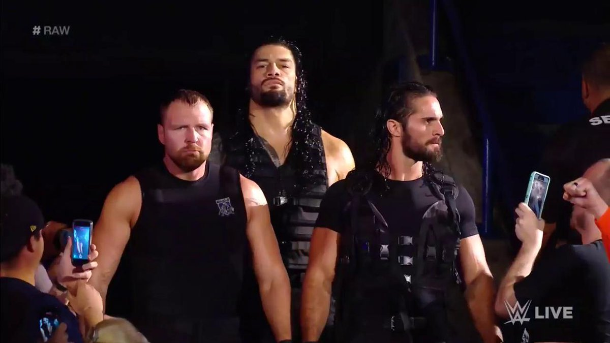 Are they here? YES THEY ARE. #RAW 🐺🐺🐺