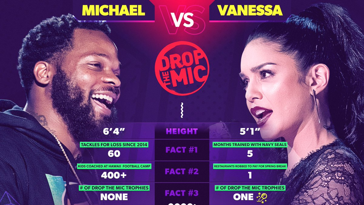 We know @mosesbread72 is a beast on the field, but @VanessaHudgens played no games on the #DropTheMic stage. 💪💯