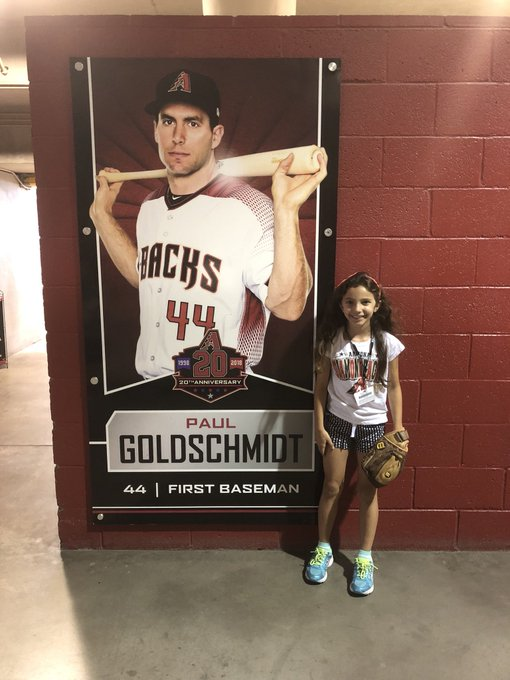 Giuliana says Happy Birthday to All-Star First Baseman Paul Goldschmidt