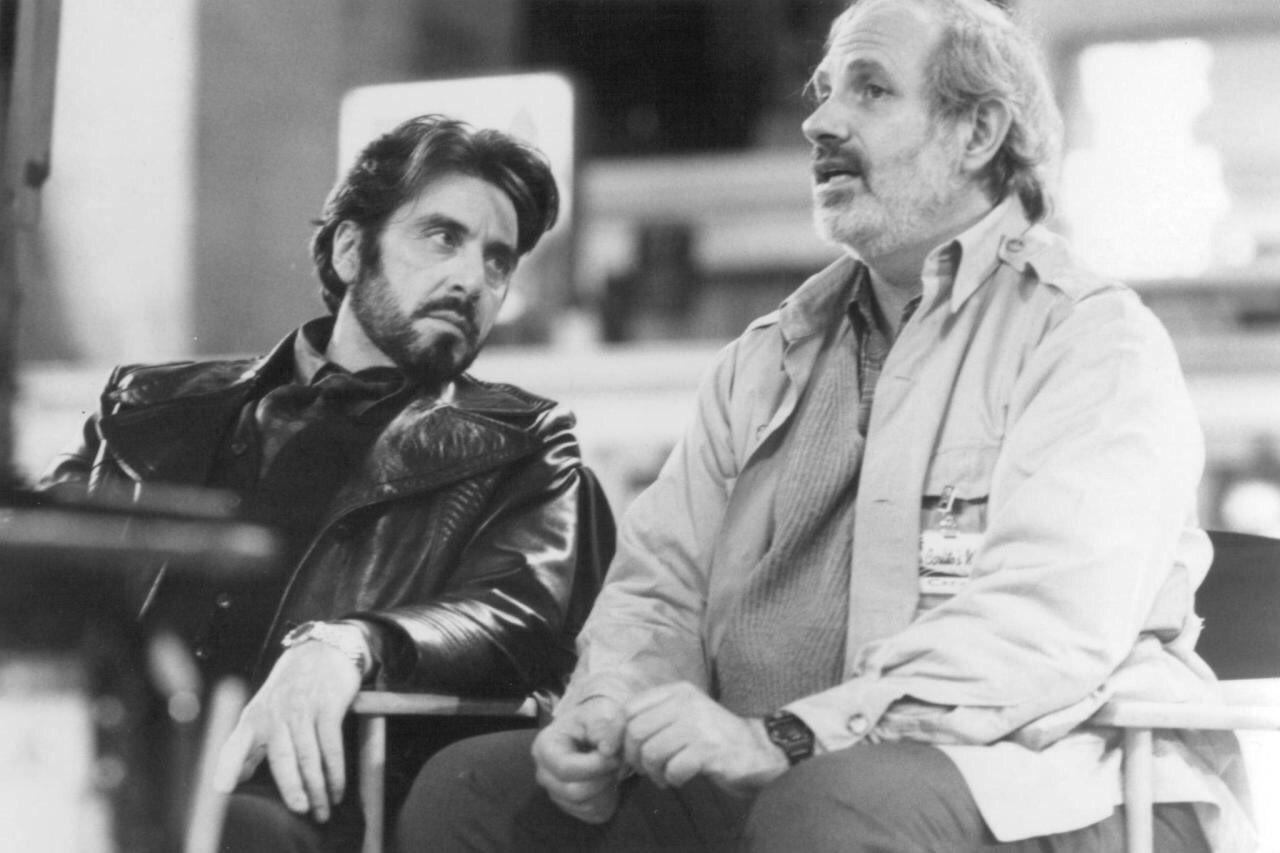 Happy 78th birthday Brian De Palma Al Pacino and Brian De Palma on the set of Carlito s Way (1993).