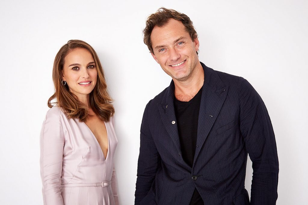 Natalie, Jude law and Brady Corbet photographed during #TIFF18