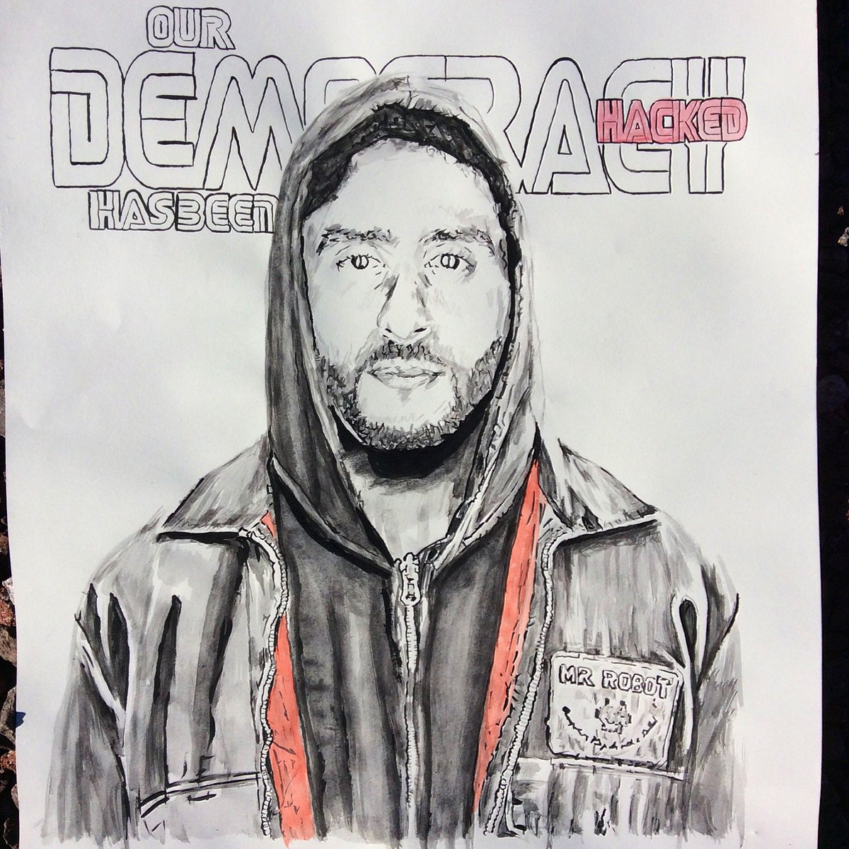 403826192a0 ... and controversy over Nike while our democracy has been hacked  mrrobot   elliot  haxor  democracy  ourdemocracyhasbeenhacked  hoodie   colinkaepernick ...