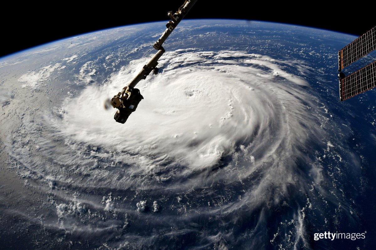 #HurricaneFlorence gains strength over the Atlantic. 📷: @astro_ricky @NASA
