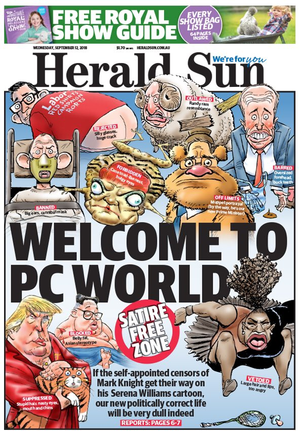 Dmz3QJWVsAAsegg - News Corp defiant after 'racist' Serena Williams cartoon sparks global furore | Media