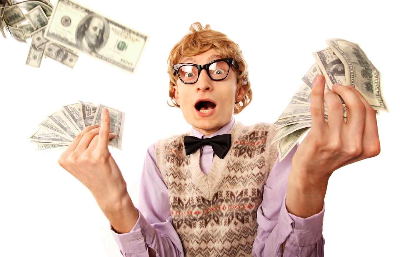 Прикольные картинки человека с деньгами