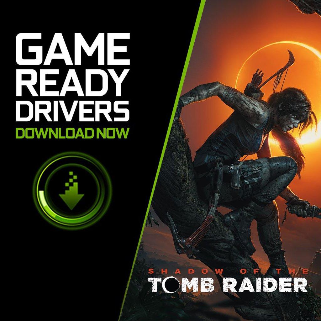 Lara ne è sicuramente contenta: i nostri GeForce Game Ready Driver per Shadow of the Tomb Raider sono ora disponibili! #GeForce #GameReady #SOTTR #TombRaider https://t.co/7hCUzbqgcc