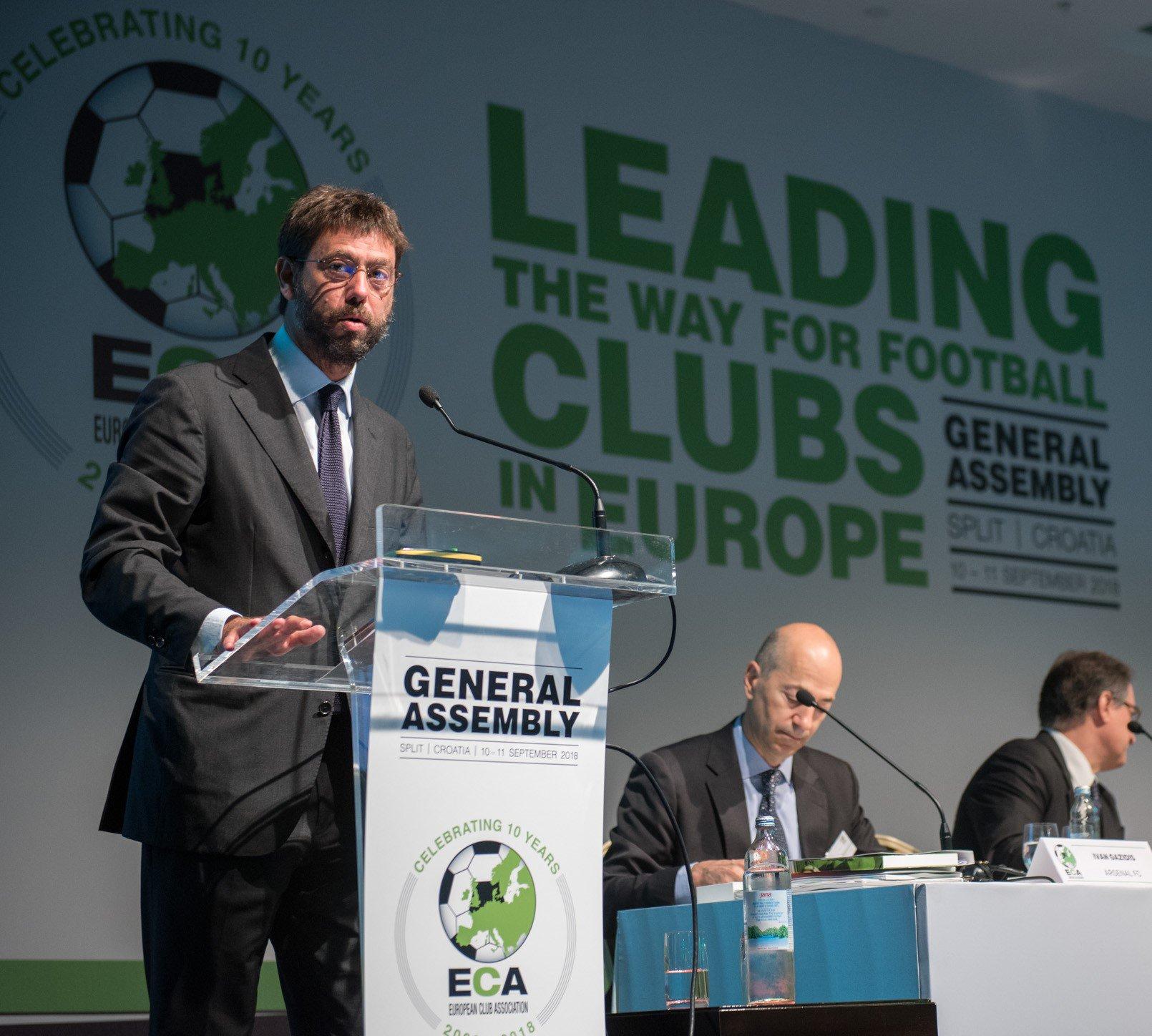 Presiden Asosiasi Klub Eropa (ECA), Andrea Agnelli