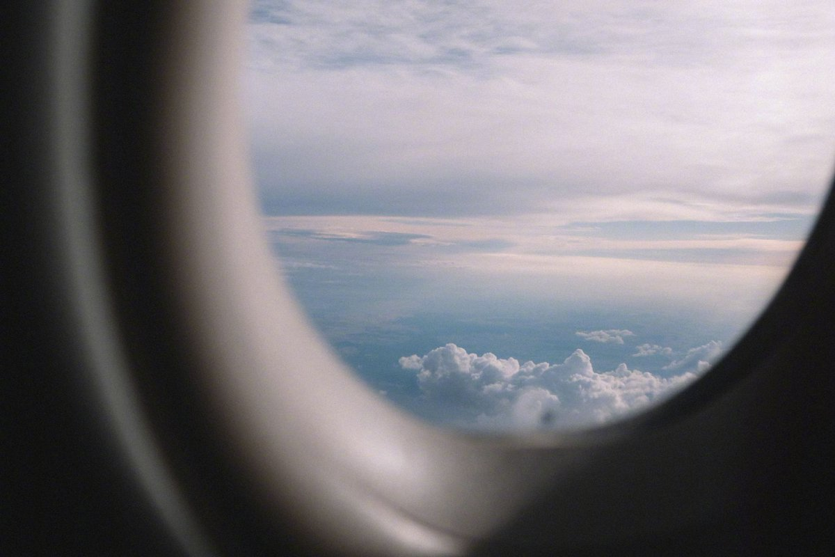 aesthetic airplane window pictures