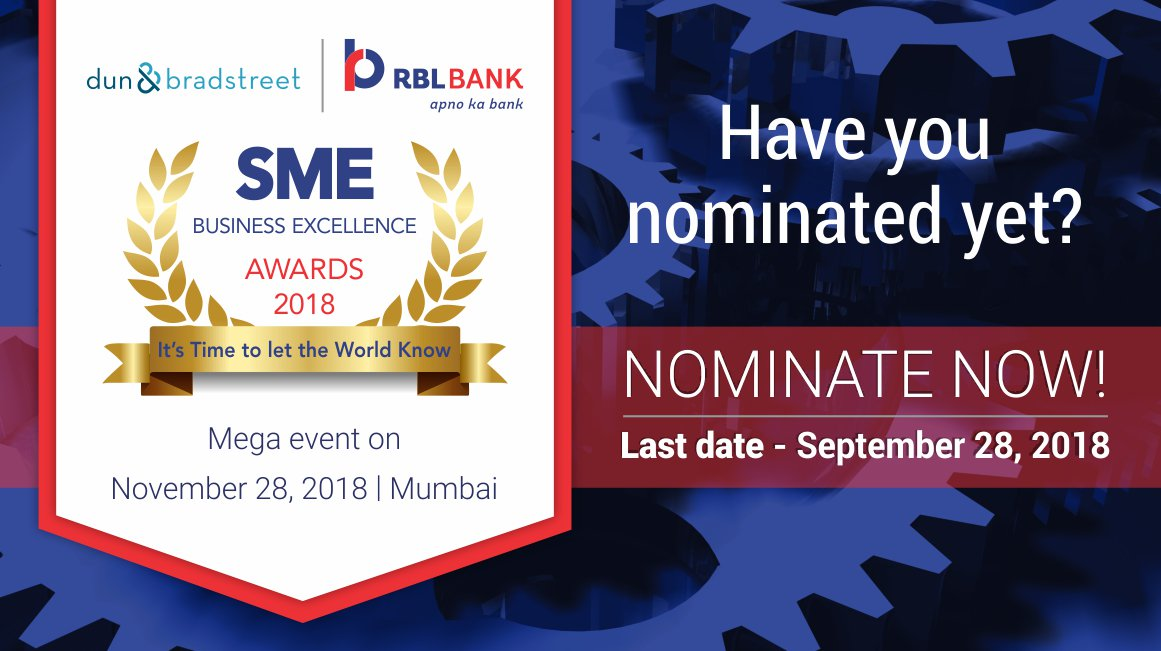 Rbl Bank On Twitter Have You Sent In Your Nominations For The Dun Bradstreet Rbl Bank Sme Business Excellence Awards 2018 Yet If Not Click And Download The Nomination Form