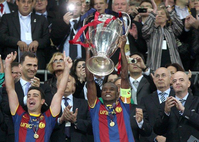 Happy Birthday to the great Eric Abidal!  3 x Ligue 1  4 x La Liga  2 x Champions League