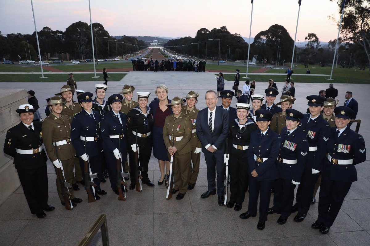 Today we honoured Australian women who have served and sacrificed in defence of Australia - those who serve or have served in the ADF, service widows, & women & families whose lives have been impacted as a result of service.  We recognise, remember & respect these wonderful women