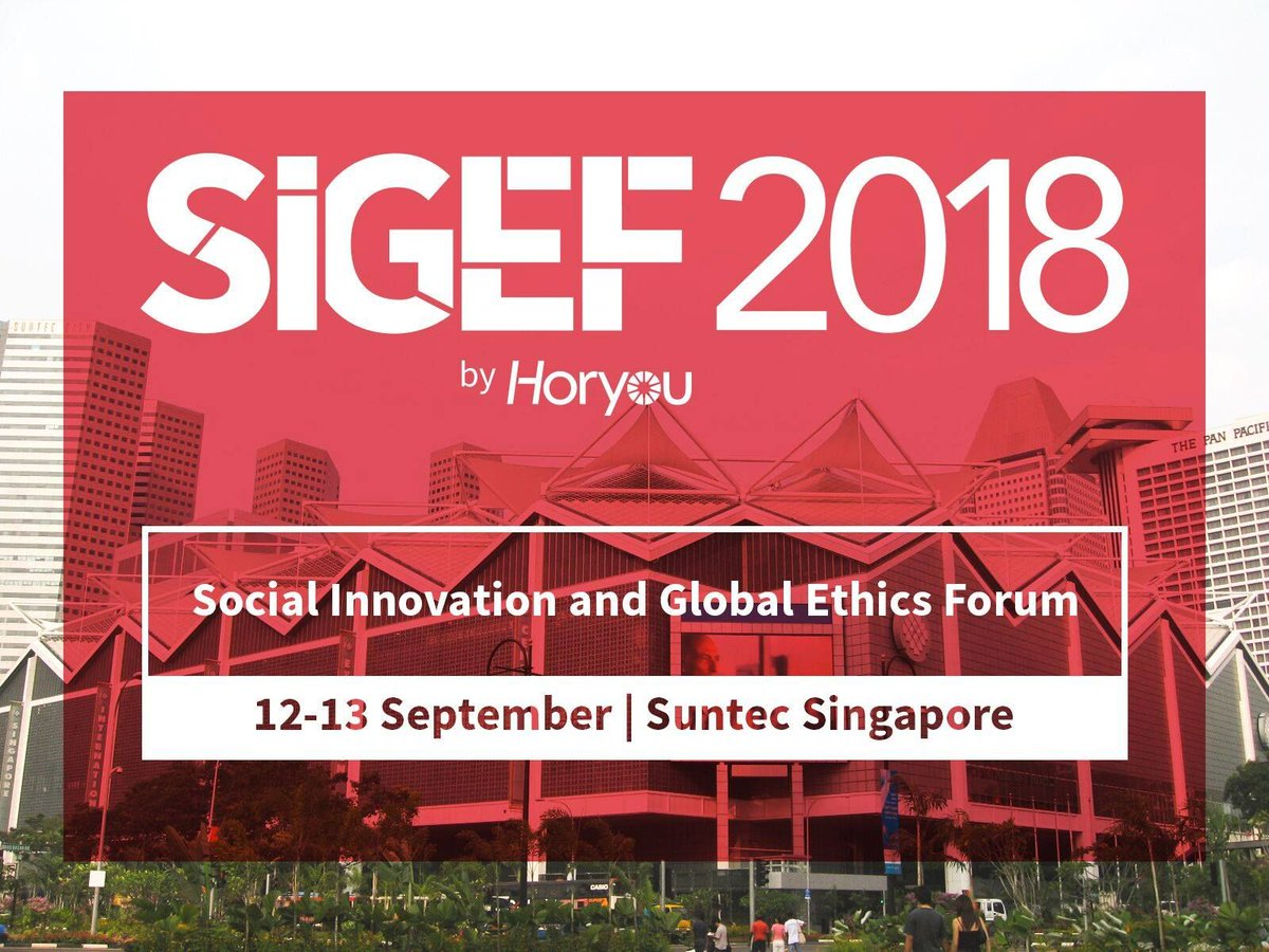 Watch live all the sessions in #SIGEF2018 I Social Innovation and Global Ethics Forum in this link:  http://bit.ly/2O8sKEw via @Horyou  #ASEAN #ASEAN2018 #Singapore #SuntecSG pic.twitter.com/3pdWzl9baY