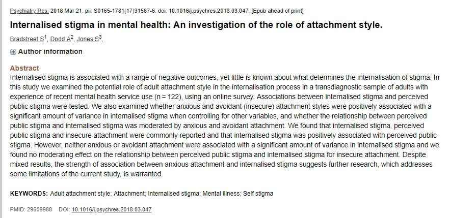 Simon Bradstreet On Twitter My Investigation Of Internal Stigma