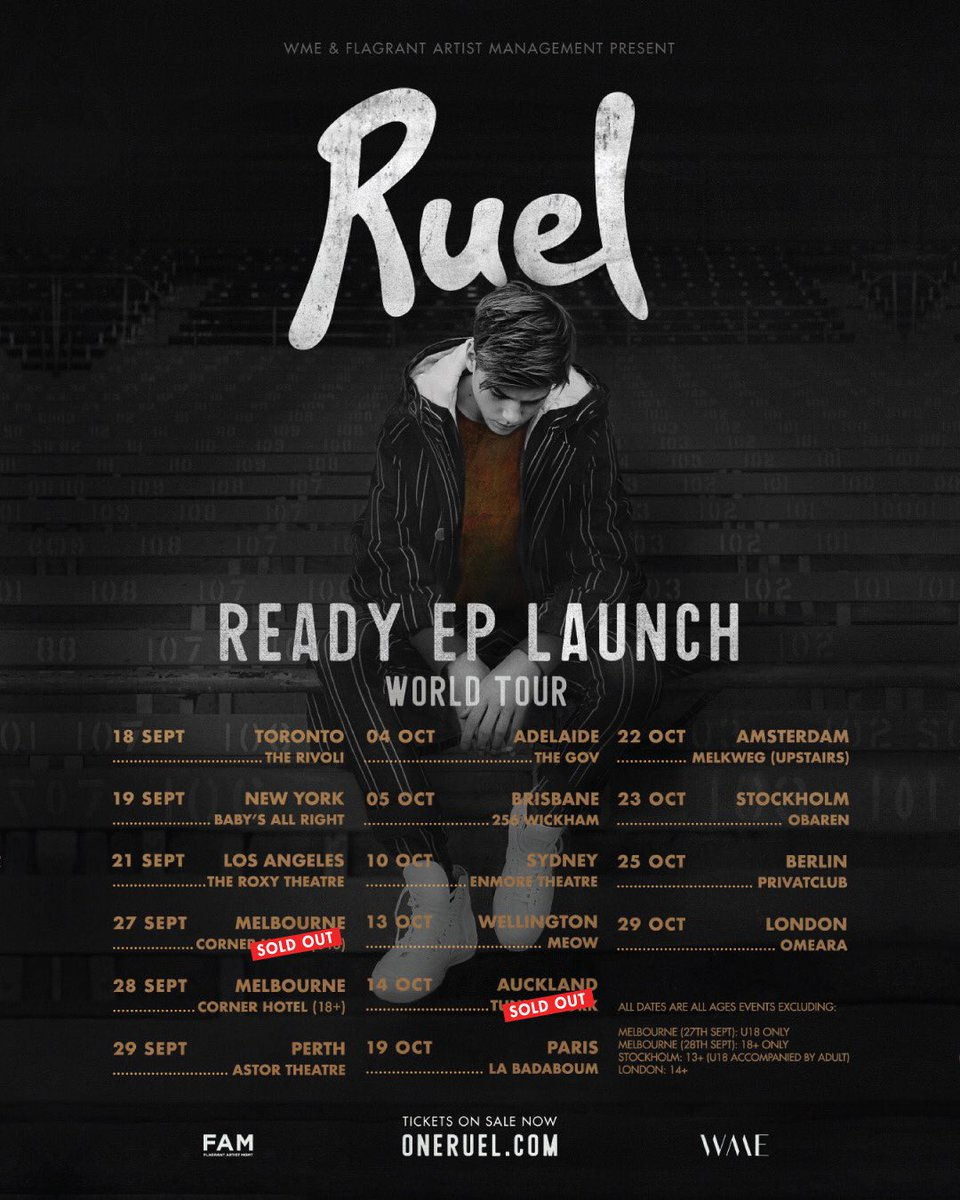 Ruel on twitter cant believe my world tour is starting in about a my first international show to sell out i love you guys and cant wait to meet you get ur tickets at httponeruel picittereywiwcqd54 m4hsunfo