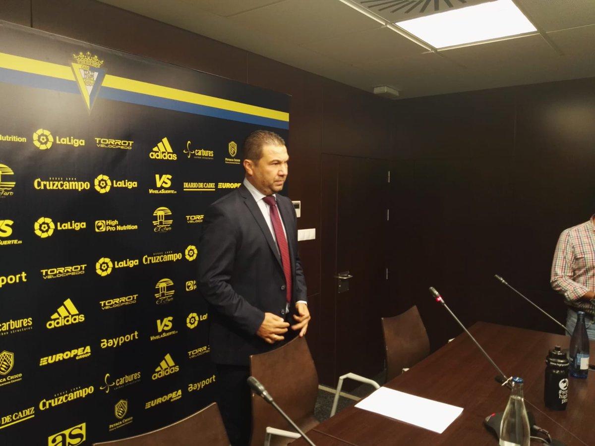Juan Carlos Cordero, durante la rueda de prensa.