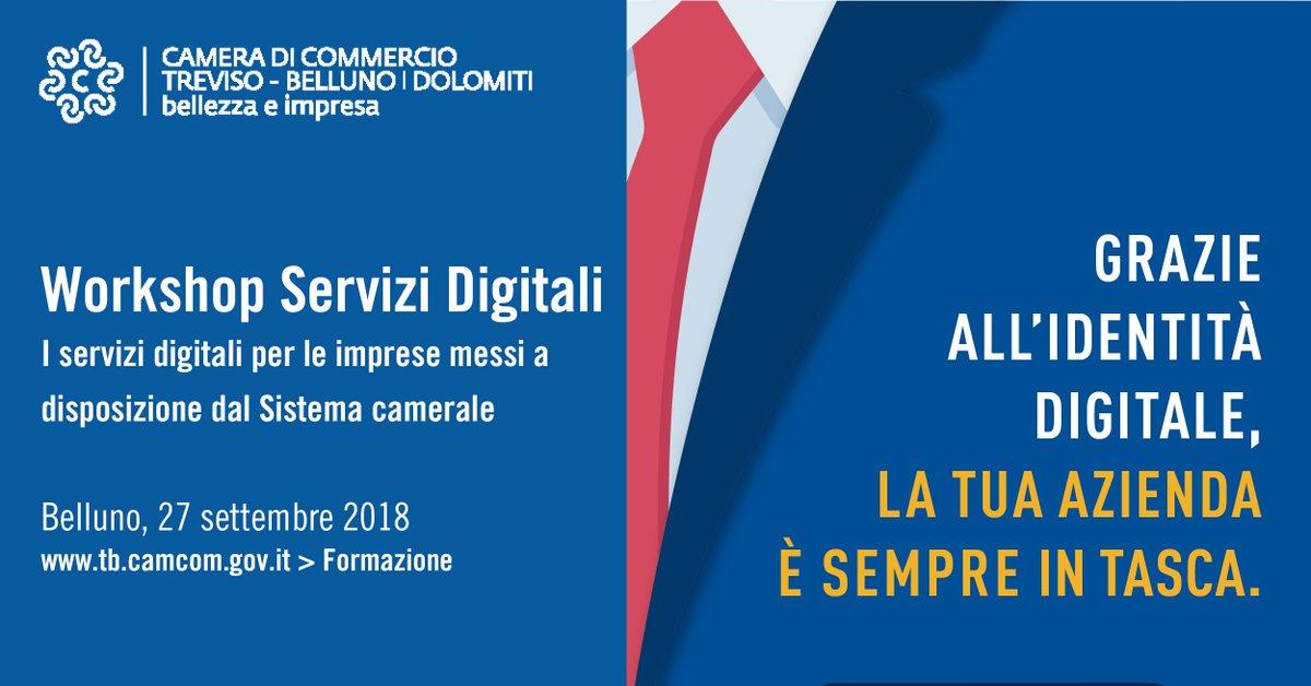 #Belluno, 27/9 #Workshop #ServiziDigitali in @tbcamcomPartecipa al prossimo incontro di presentazione dei servizi digitali (#PID #impresaitaliait  #fatturazioneelettronica #CNS #FirmaDigitaleRemota) Ultimi posti disponibili, iscriviti qui:  http:// www.tv.camcom.gov.it/CCIAA_formazione.asp?cod=1410  - Ukustom