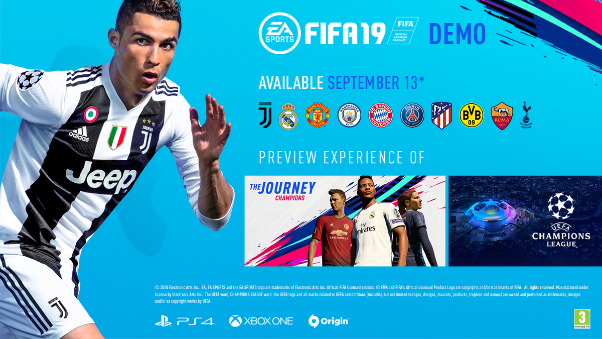 Here. We. Go. Start your season and download the #FIFA19 Demo on September 13th!