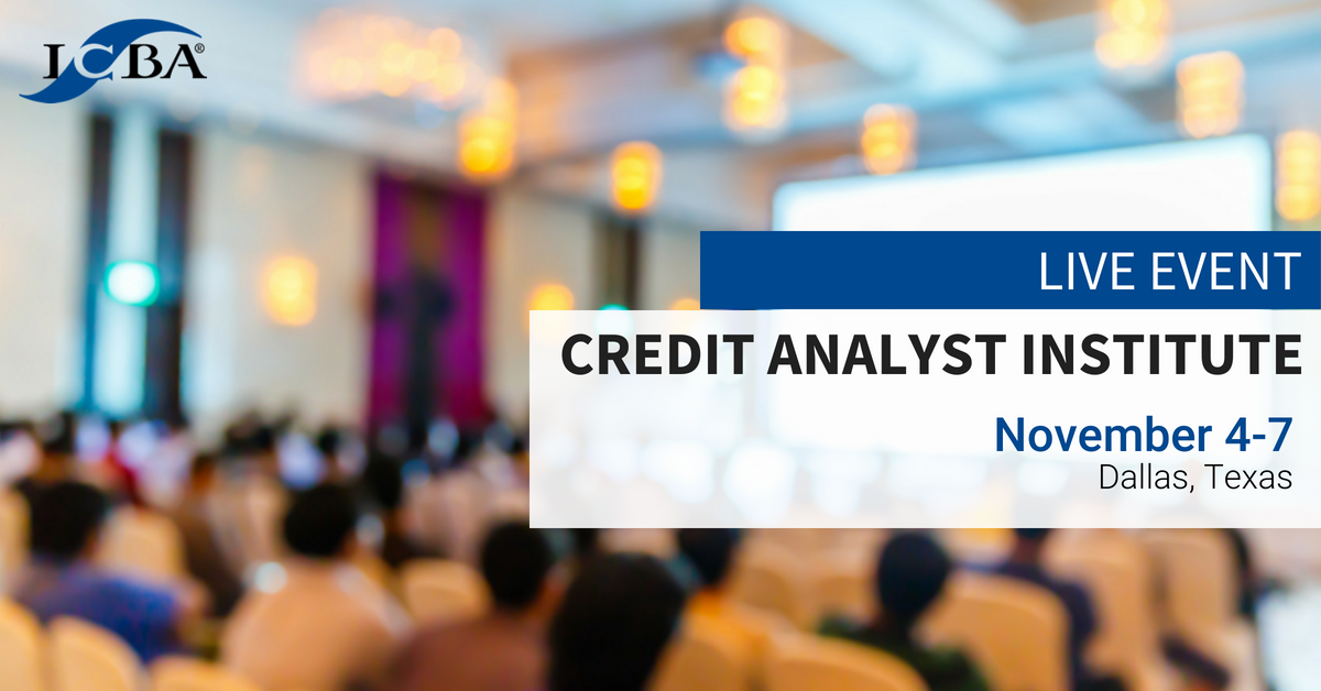 As the role of the credit analyst continues to evolve, we've developed a new certification program focusing on necessary financial analysis skills and additional expertise vital to lending success. Join us in Dallas this November. Learn more--> https://t.co/9TucRHayz7