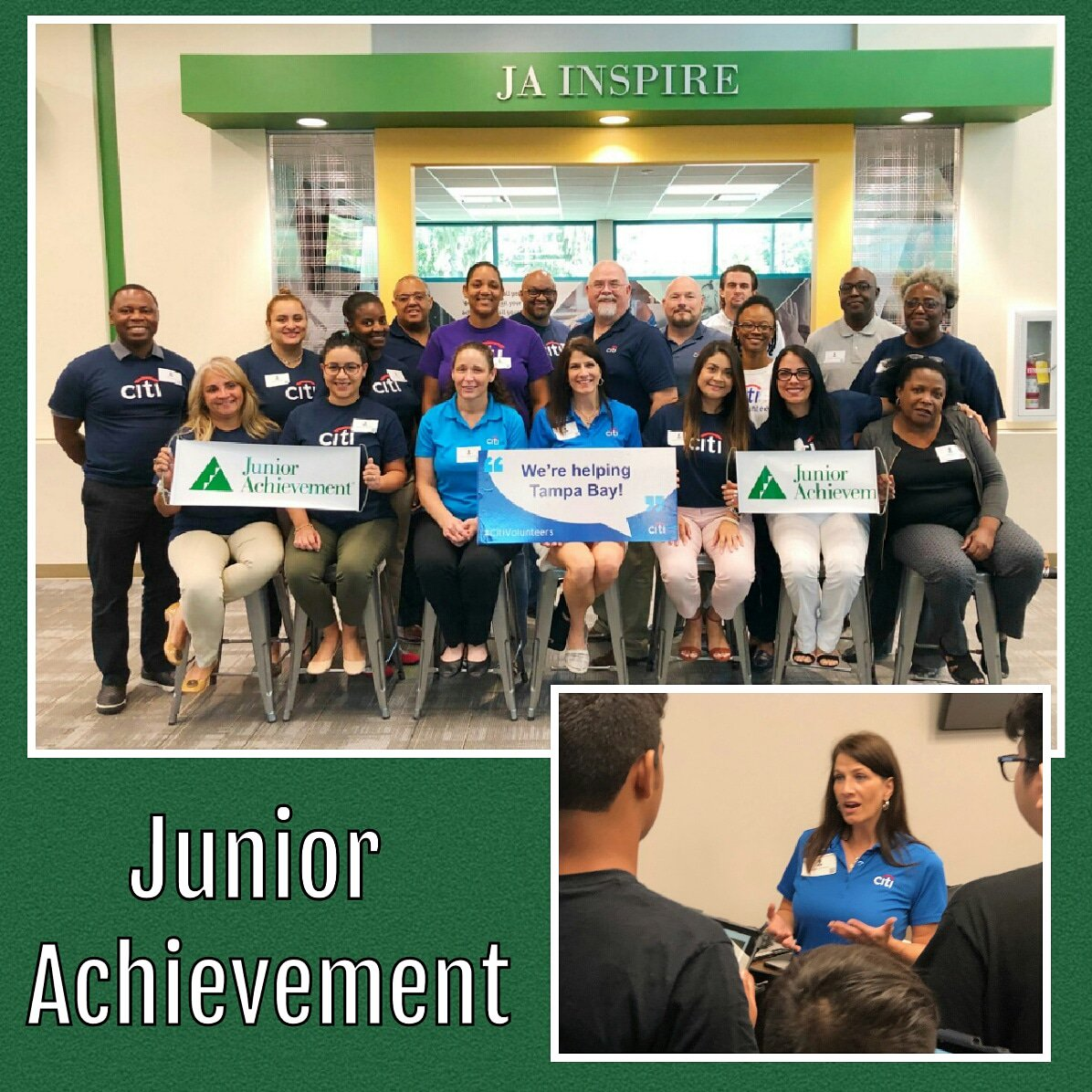 Spent my day at @jatampabay with @citi volunteers to teach 8th grade students about net income, budgeting and how their career choice will affect their futures. #citivolunteers #JAFinanceParkTB  #juniorachievement @HillsboroughSch #CitiAmbassador