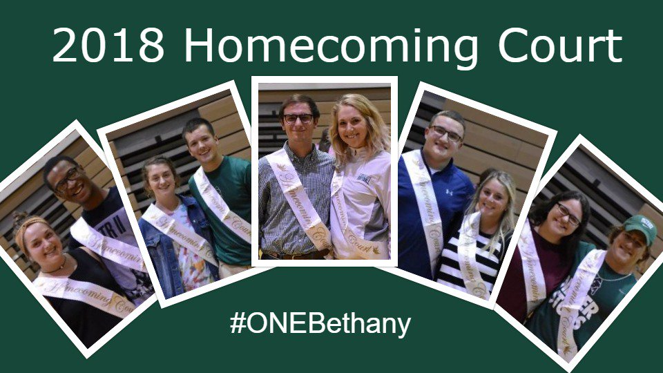 Congratulations to Bethany College's 2018 Homecoming Court! #ONEBethany #BisonPride