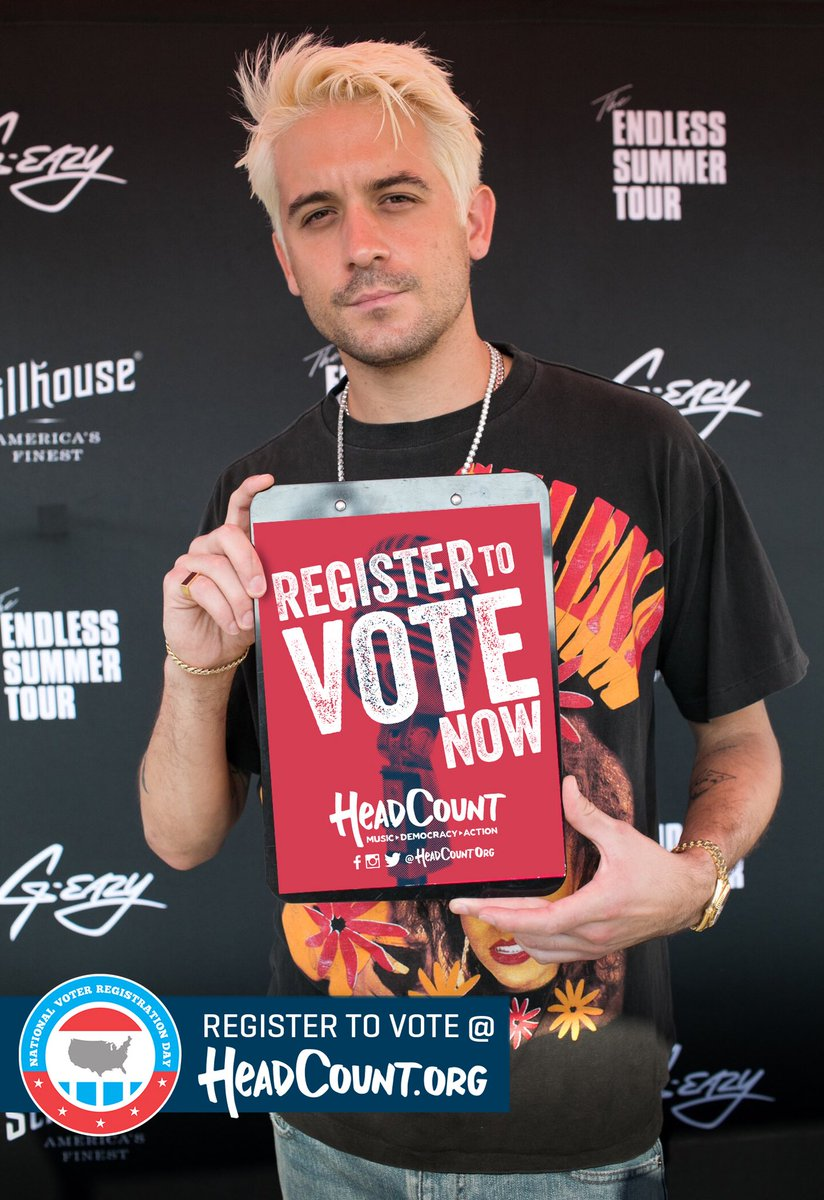 G Eazy On Twitter Today Is National Voter Registration Day Please