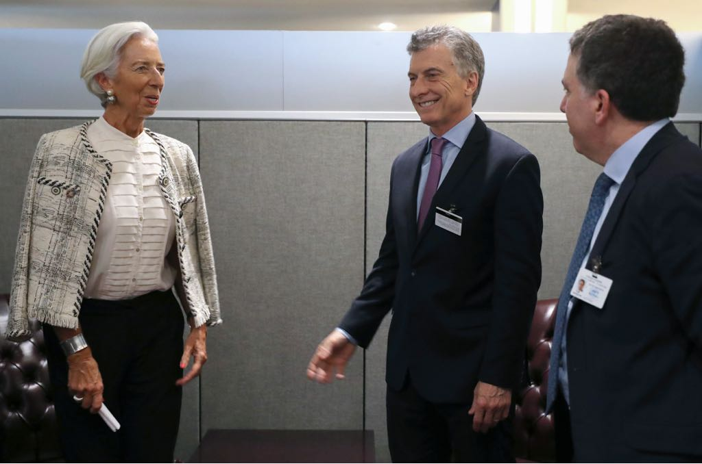 I had a very good meeting with President Macri. We are close to the finish line in terms of reaching a revised staff-level agreement between Argentina and the IMF, which will be subject to approval of our Executive Board.