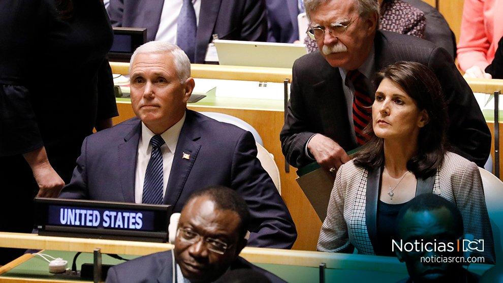 'Estados Unidos siempre estará con sus aliados. El régimen Maduro haría bien en no poner a prueba la determinación de Trump', Mike Pence, vicepresidente de EEUU sobre tropas venezolanas en la frontera con Colombia https://t.co/YR2umbdLTD