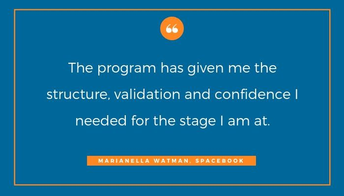 Having a structured approach can go a long way in helping you develop core competencies and hit #businessmilestones. For #E3Program participant @MarianellaW of @gpspacebook it also gave her validation and confidence. Apply now  https:// buff.ly/2ISthYy    <br>http://pic.twitter.com/5ecQR2XIAC
