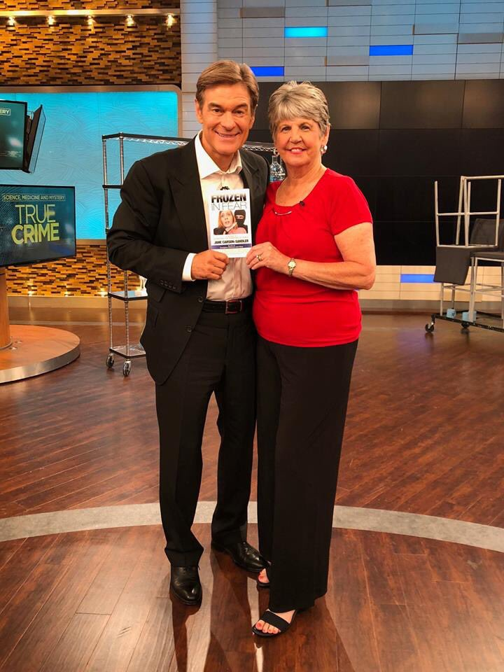 "Today's guest, Jane Carson-Sandler, was raped by the suspected Golden State Killer. Thirty-eight years have passed, but her bravery lives on in her book ""Frozen in Fear: A True Story of Surviving the Shadows of Death"": https://t.co/aUk1eHGRAk"
