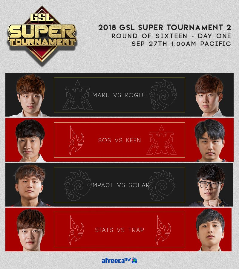 2018 GSL Super Tournament 2 1. nap