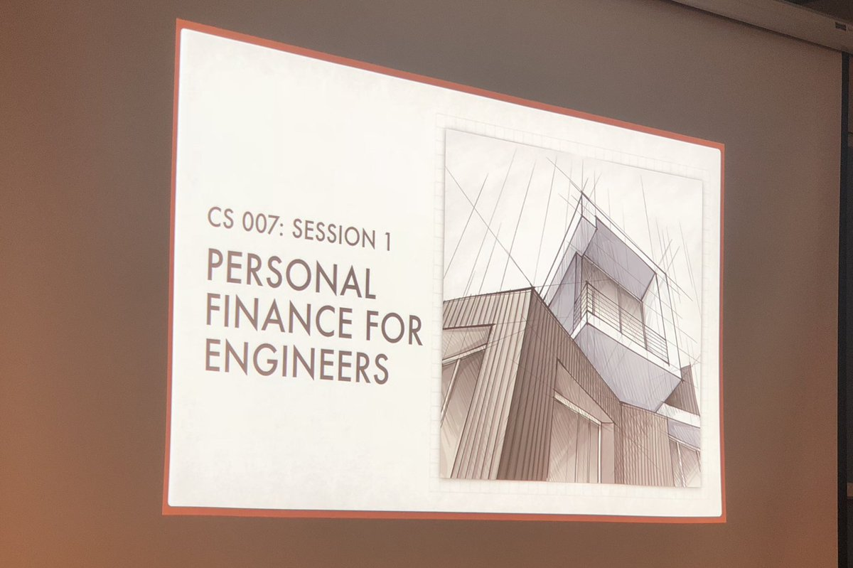 """Getting ready to kick off Year 2 of @Stanford CS 007, """"Personal Finance for Engineers"""""""