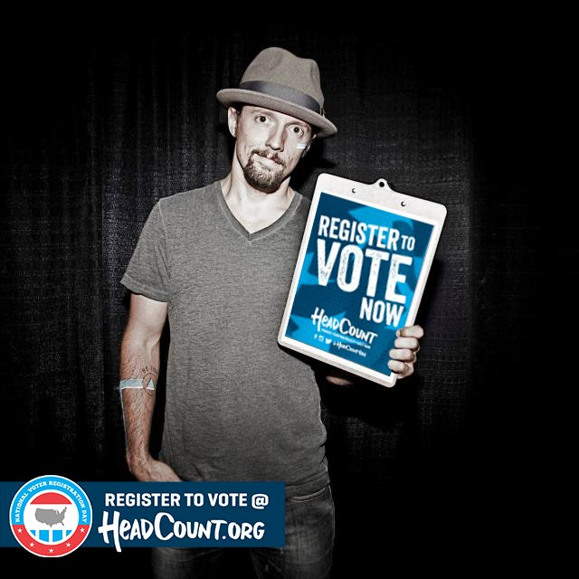 Today is #NationalVoterRegistrationDay. Register to vote now with @HeadCountOrg: https://t.co/4PlYmRGZ0q #TheFutureIsVoting