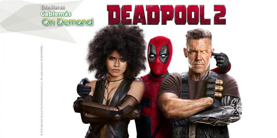 No es ningún héroe, no tiene modales y su nombre rima con 'muy cool'. ¡Renta ahora 'Deadpool 2' en Cablemás On Demand. https://t.co/XWI4MnpXix