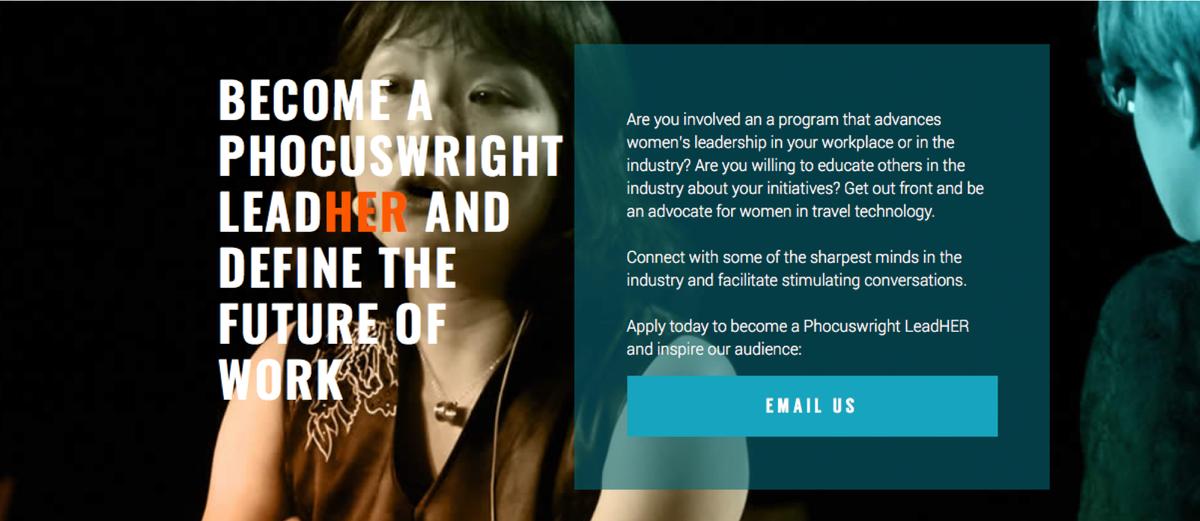 Phocuswright Women's Leadership Initiative: https://t.co/QARD08Rdz4   At the 2018 Phocuswright Conference: November 13-15, 2018, Los Angeles, California