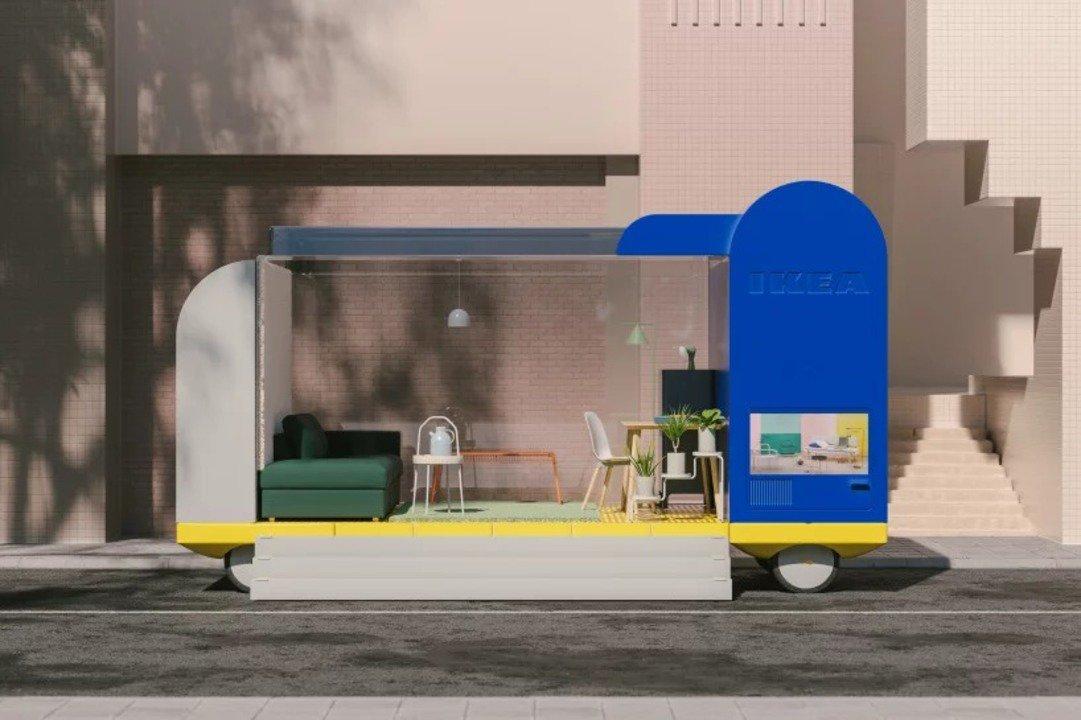 IKEAのコンセプト「SPACES ON WHEELS」なら、展示スペースが自律移動でやってくる #乗り物 #クルマ #インテリア #デザイン #プロダクト https://t.co/L3Nwq3uTww