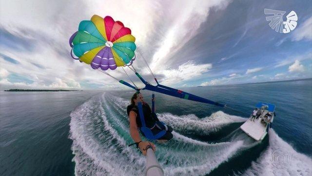 #Fant360: @receribelli leva até você experiências como um mergulho no mar cristalino das Ilhas Maldivas ou um voo de parasail, por todos os ângulos https://t.co/3TlouDI80R