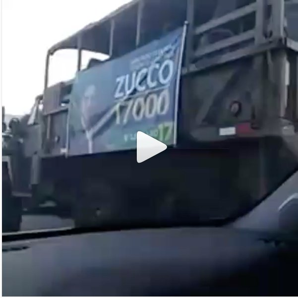 Militar gaúcho usa caminhões do Exército em sua campanha https://t.co/tgrV7RkhQK