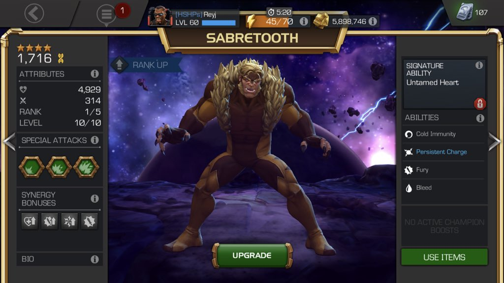 MarvelChampions On Twitter Nice Rey Congrats Your 4 Star Sabretooth Whats The Next Youre Looking Forward To Acquiring ZM