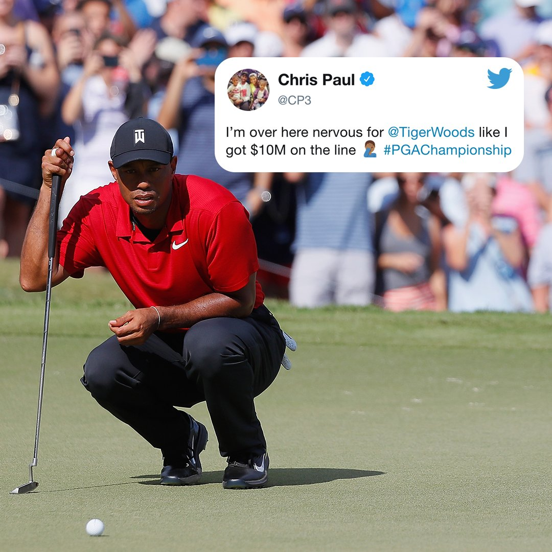 Sports world had its �� on Tiger. https://t.co/HXVAJDGDis
